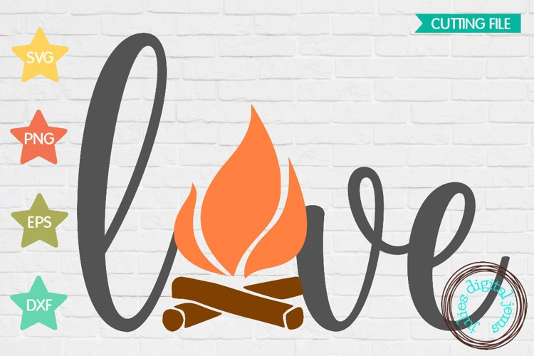 Valentines Love Campfire SVG example image 1