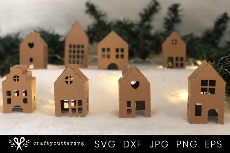 Christmas Village Svg Bundle  DIY Christmas 3D House - Free Design of The Week Design0
