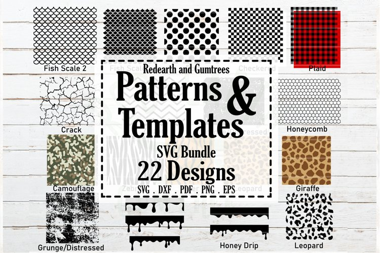 Patterns and stencil templates bundle SVG,plaid,distressed