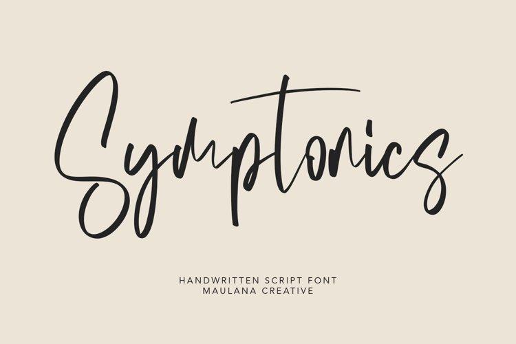 Symptonics Signature Handwritten Font example image 1