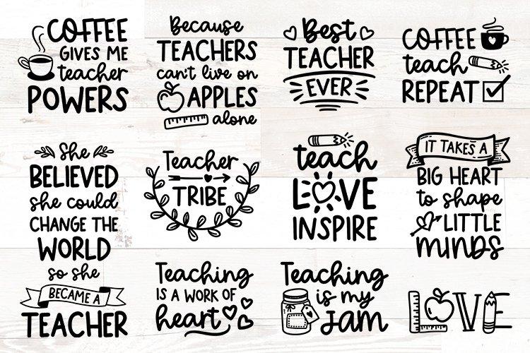 Teacher svg Bundle quotes example image 1