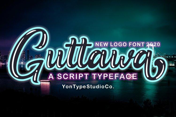 Guttawa | A Logo Typeface Font example image 1