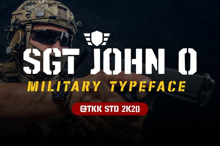 SGT Jhon O - Stencil Army Font example image 1