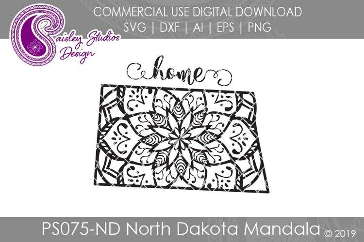 Mandala North Dakota Home SVG DXF Ai EPS PNG