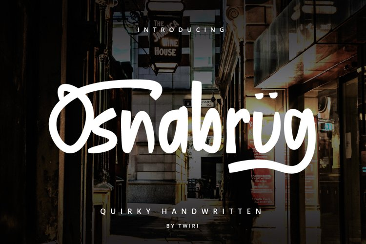 Osnabrug Font Quirky Handwritten