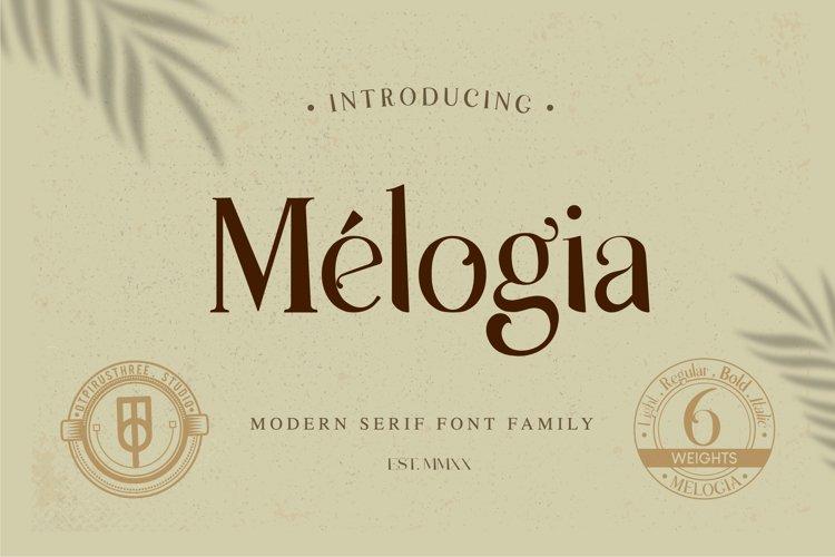 Melogia - Modern Serif Font Family