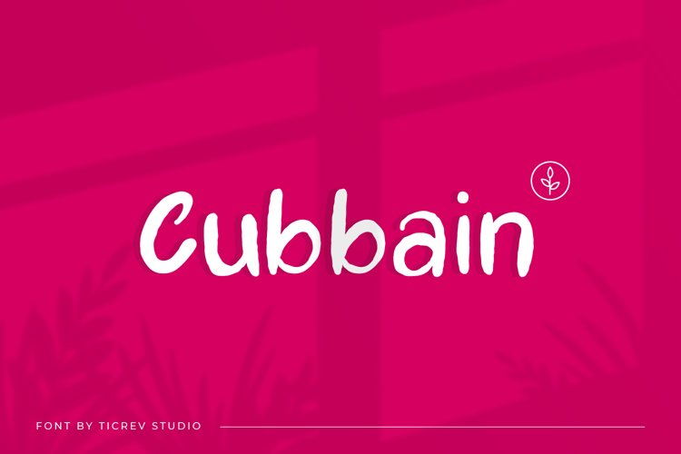 Cubbain-Handwritten Display Font example image 1