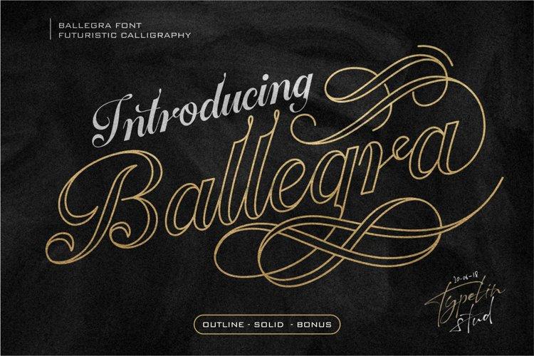 Ballegra Solid & Outline Script
