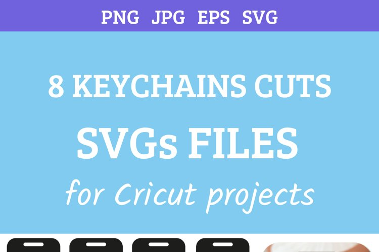 8 Keychains laser wood cut templates SVGs example 2
