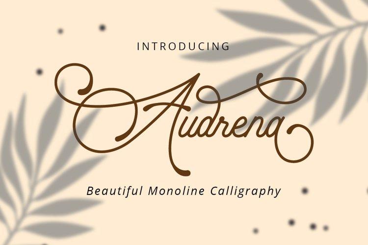 Audrena - Beautiful Monoline Font example image 1