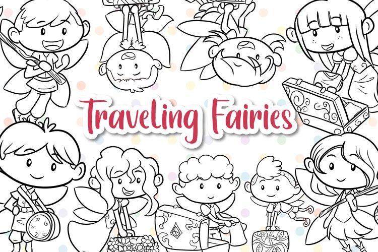 Traveling Fairies Digital Stamps