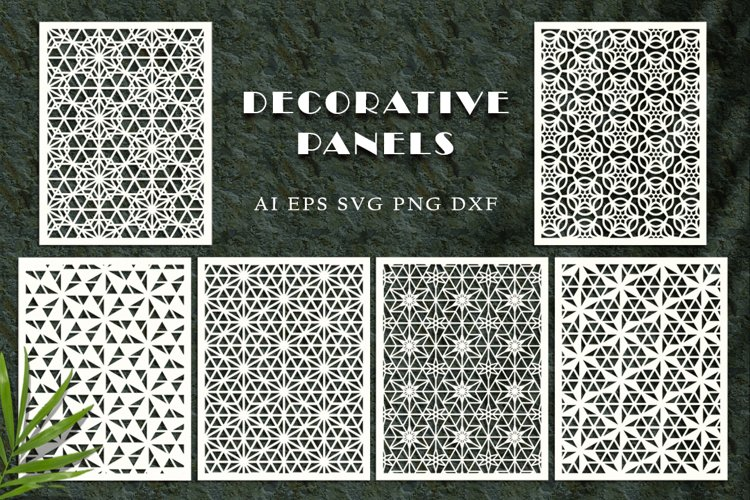 Decorative panels for cutting. SVG