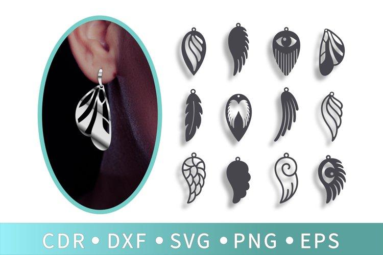 12 Angel wings SVG, Butterfly earrings, Tassel necklace, Eye