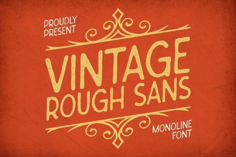 Web Font Vintage Rough Sans Font example image 1