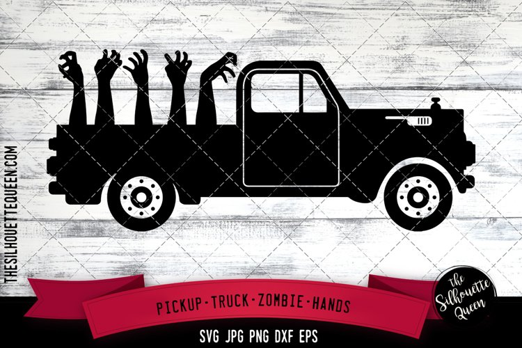 Pickup truck Zombie hand Cut file Svg