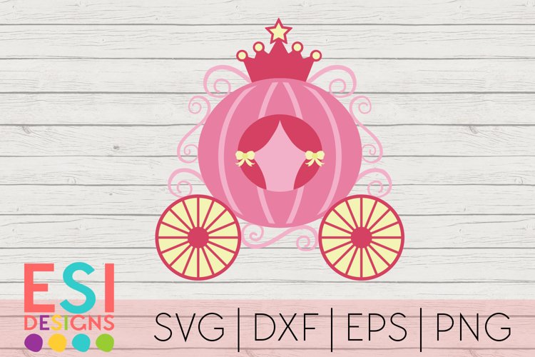 Princess Carriage SVG| SVG, DXF, EPS, PNG