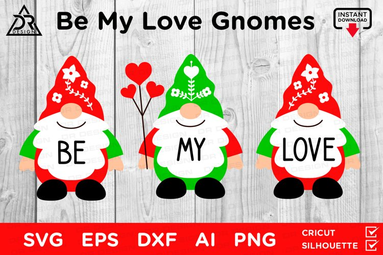Be My Love Gnomes SVG