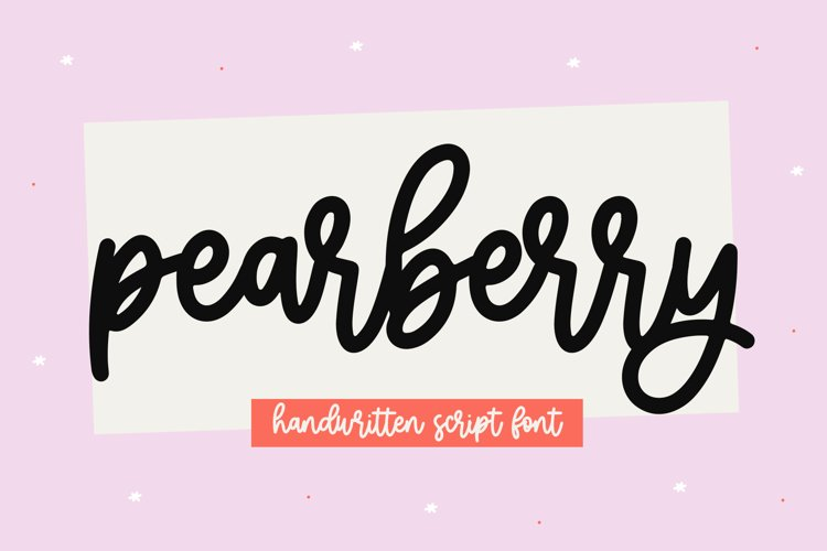 Pearberry - A Cute Handwritten Script Font example image 1