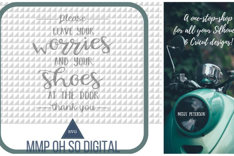 Leave Your Shoes at the Door SVG, Farmhouse svg, Farmhouse decor, cut file, for silhouette, for cricut example image 1