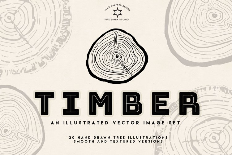 Timber Vector Tree Rings Illustrations