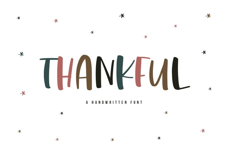 Thankful - A Cute and Chunky Handwritten Font example image 1