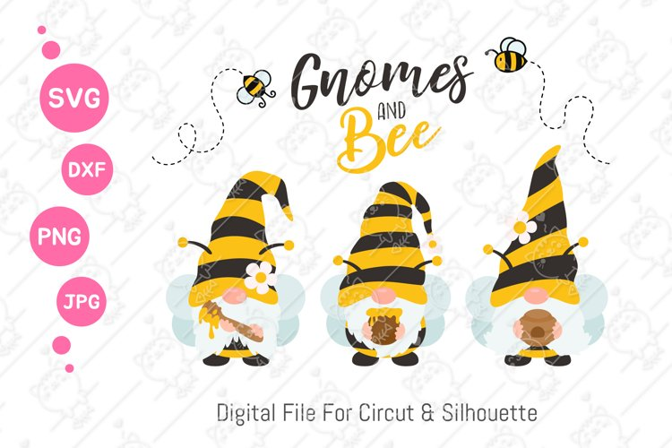 Cute Bumble Bee Gnomes svg | Gnomes Honey png| svg png dxf example image 1