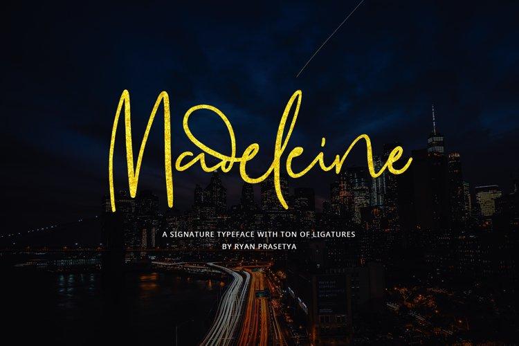 Madeleine Signature Font example image 1