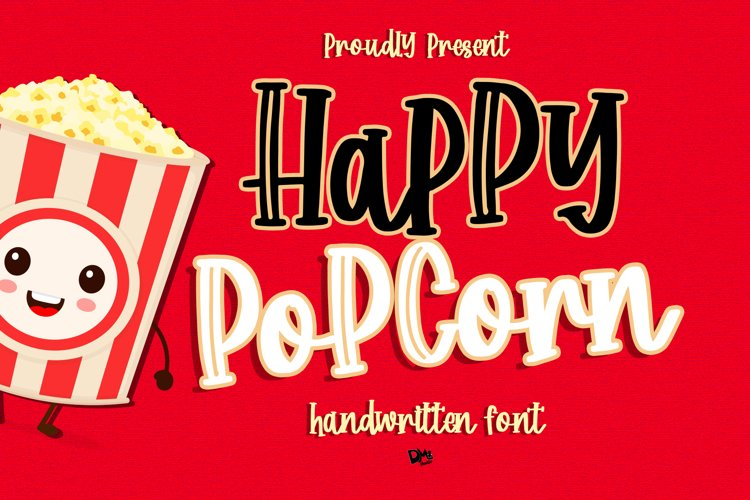 Happy Popcorn - Handwritten Font example image 1