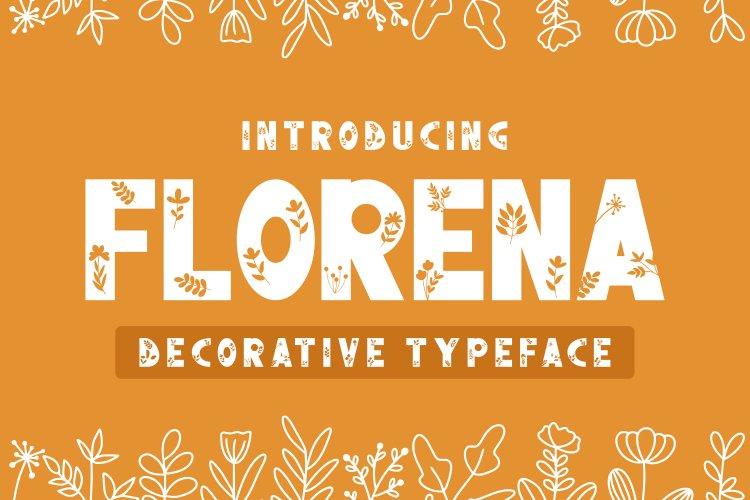 Florena Decorative font example image 1