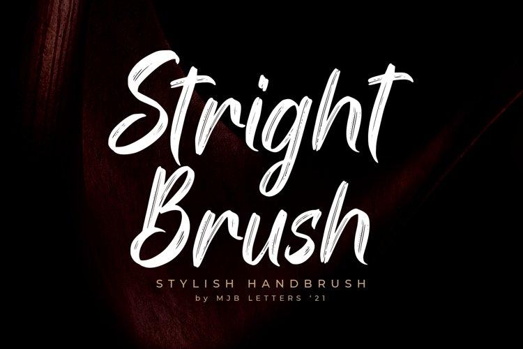 Stright Brush | Stylish Brush Font example image 1