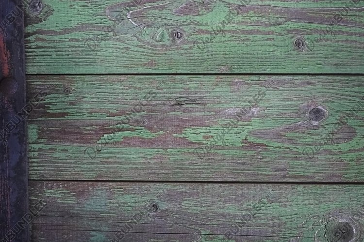 green surface, Wood background or texture example image 1