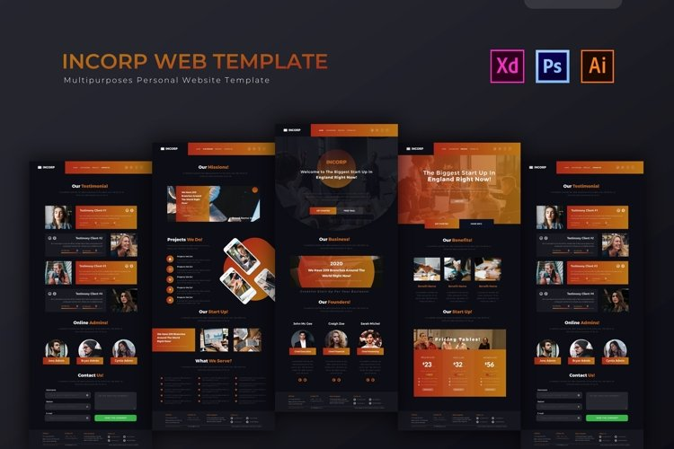 Incorp | Web Template example image 1