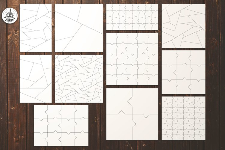 Puzzle Jigsaw SVG Templates Bundle - Classic, Heart, Unusual - Free Design of The Week Design0