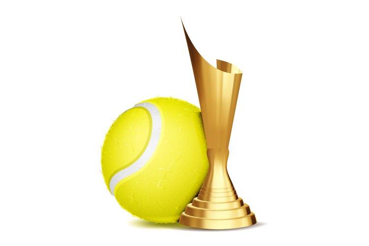 Tennis Game Award Vector. Tennis Ball example image 1