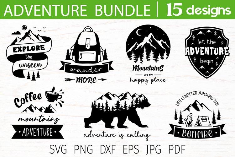 Adventure svg bundle, adventure quotes, mountain camping svg