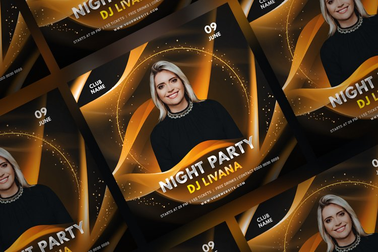 Music Party Social Media Post Template. Vol 8
