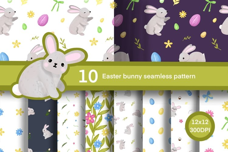 easter bunny pattern, easter egg, easter digital paper