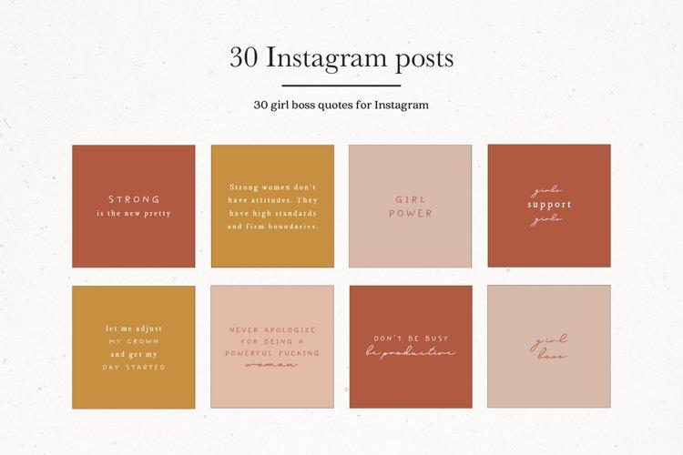 Instagram Girl Boss Quotes | Instagram Branding example image 1