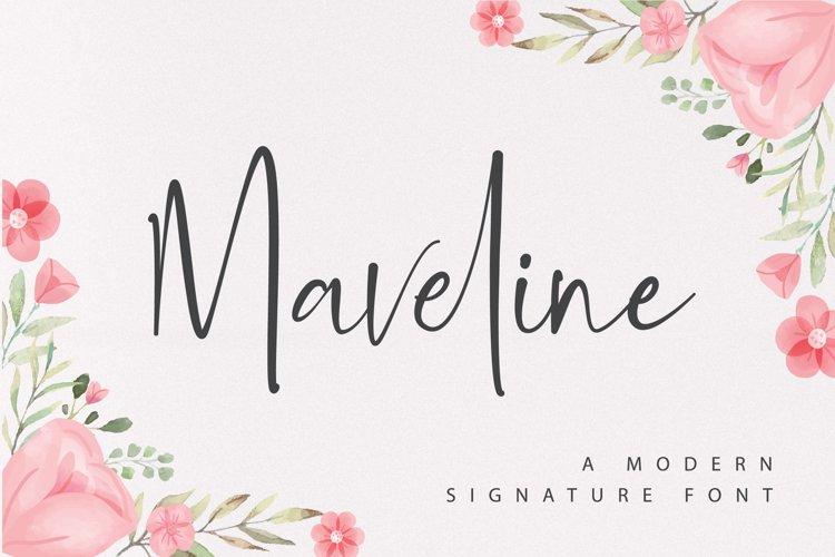 Maveline - A Modern Signature Font example image 1