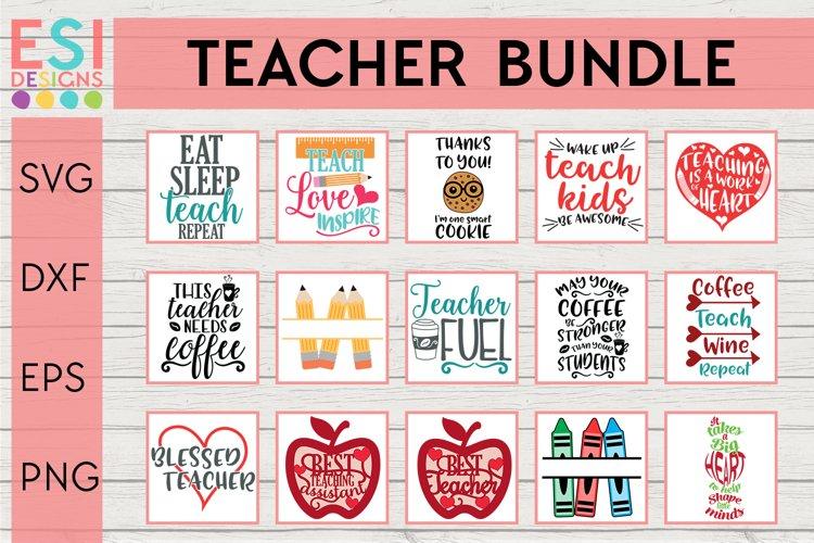 Teacher Bundle SVG | Back to School example image 1