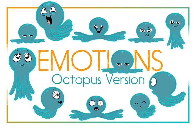 Octopus Emotions | Nautical Emotion Octopus Clipart| Octopus