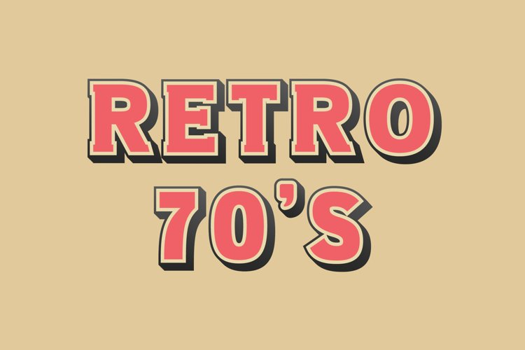 Retro 70s SVG Font example image 1