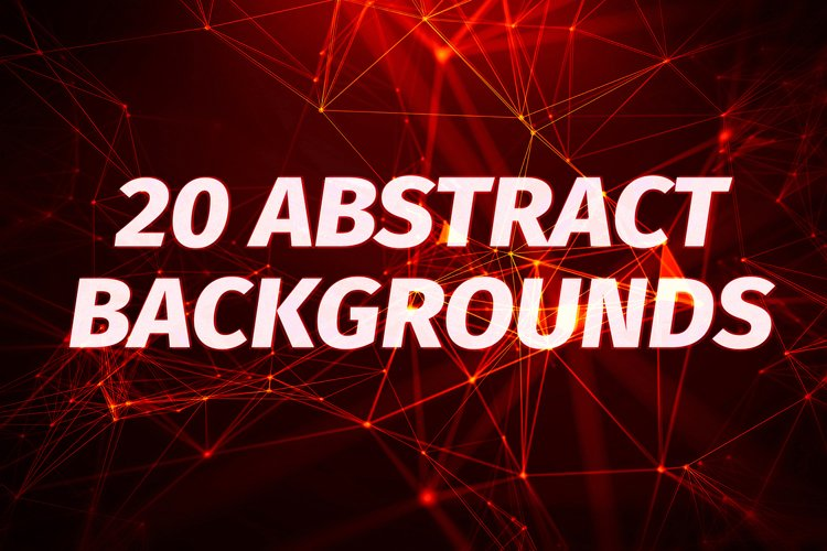 20 Red Abstract Plexus Backgrounds example image 1