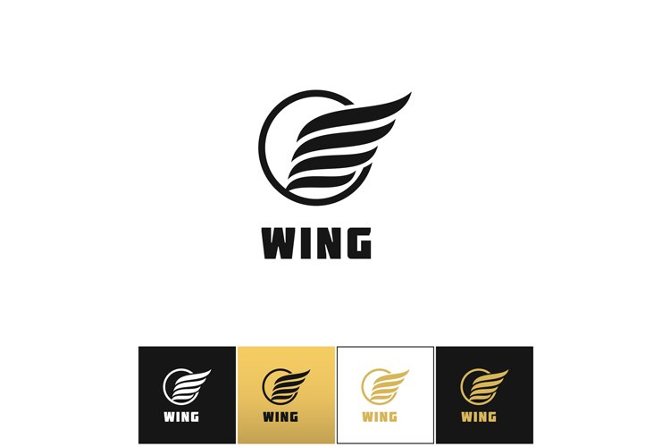 Business wing logo vector icon example image 1