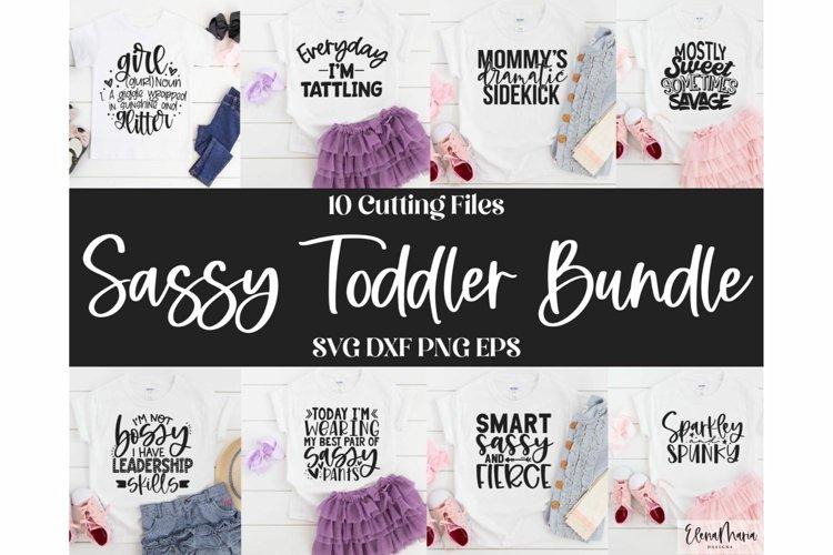 Sassy Toddler Girl Svg Bundle   Shirt Bundle   Mom Cut File example image 1