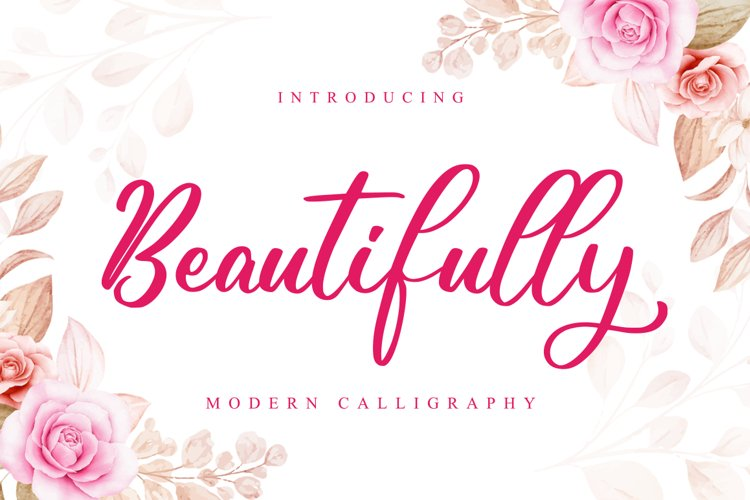 Beautifully // Lovely Script Font example image 1