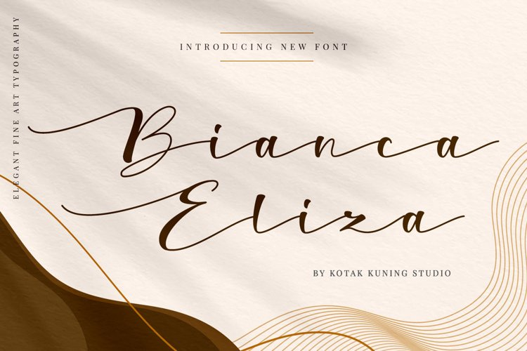 Wedding Script Font - Bianca Eliza