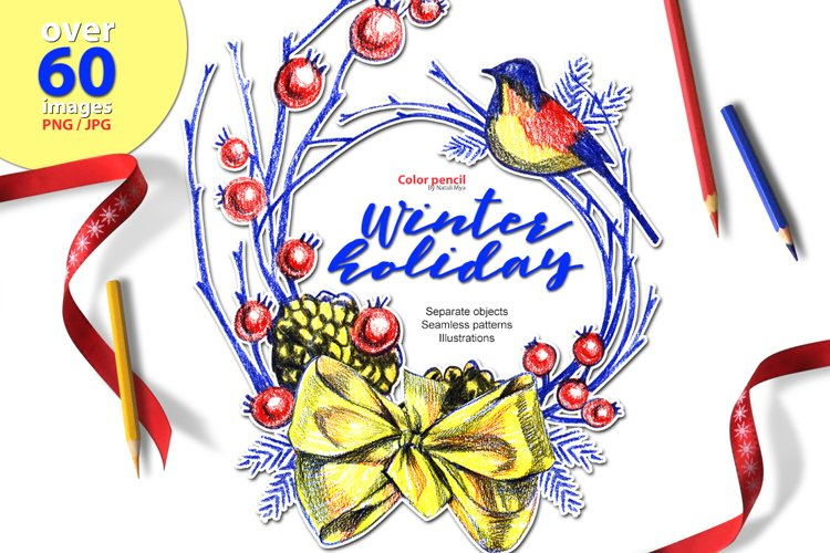 Winter holyday illustrations example image 1