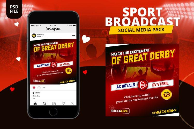 Sport Broadcast Social Media Pack example image 1