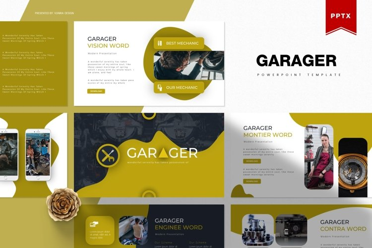 Garager | Powerpoint, Keynote, Google Slides Template example image 1